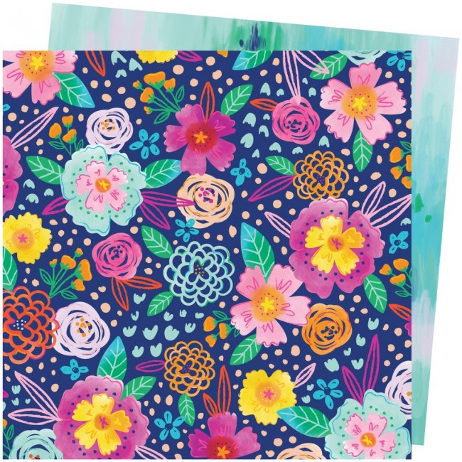 Papel Estampado Doble Cara 12x12 Go To The Scenic Route Paige Evans #2