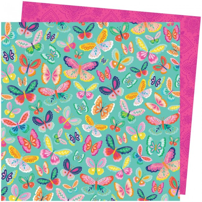 Papel Estampado Doble Cara 12x12 Go To The Scenic Route Paige Evans #20