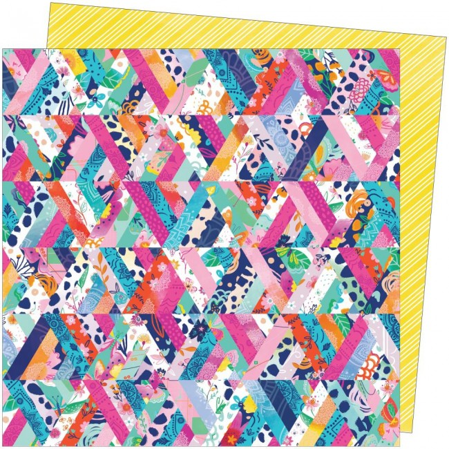 Papel Estampado Doble Cara 12x12 Go To The Scenic Route Paige Evans #8