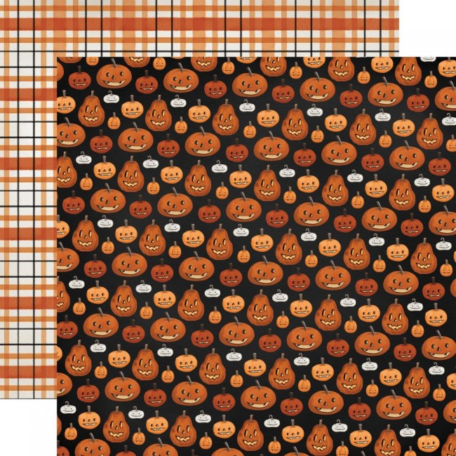 Papel Estampado Doble Cara 12x12 Halloween Market Pumpkins