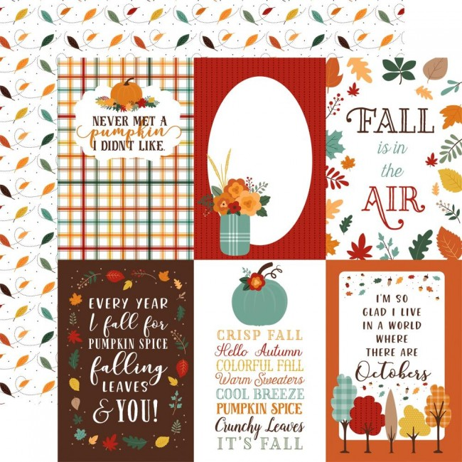 """Papel D.C. 12x12 Happy Fall 4""""X6"""" Journaling Cards"""