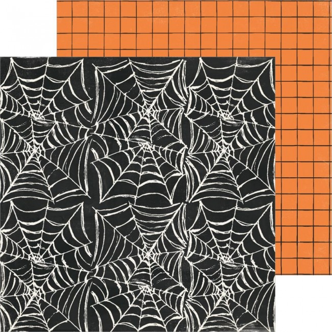 Papel Estampado Doble Cara 12x12 Hey Pumpkin Reedition Creepy Crawly