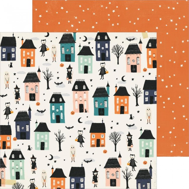 Papel Estampado Doble Cara 12x12 Hey Pumpkin Reedition Happy Haunting