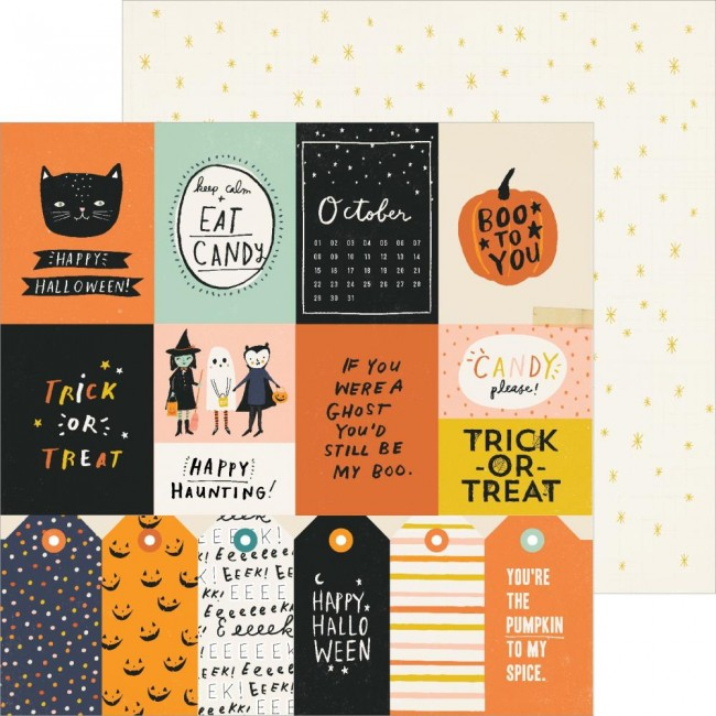 Papel Estampado Doble Cara 12x12 Hey Pumpkin Reedition Treats Please