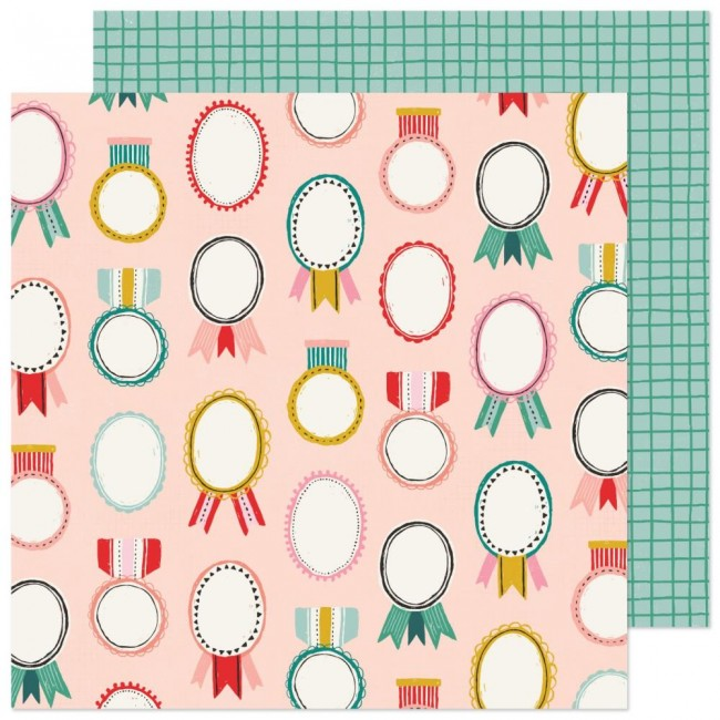 Papel Estampado Doble Cara 12x12 Hey Santa Merry & Bright