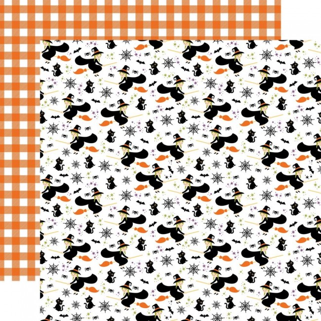Papel Estampado Doble Cara 12x12 I Love Halloween Witches Night Out