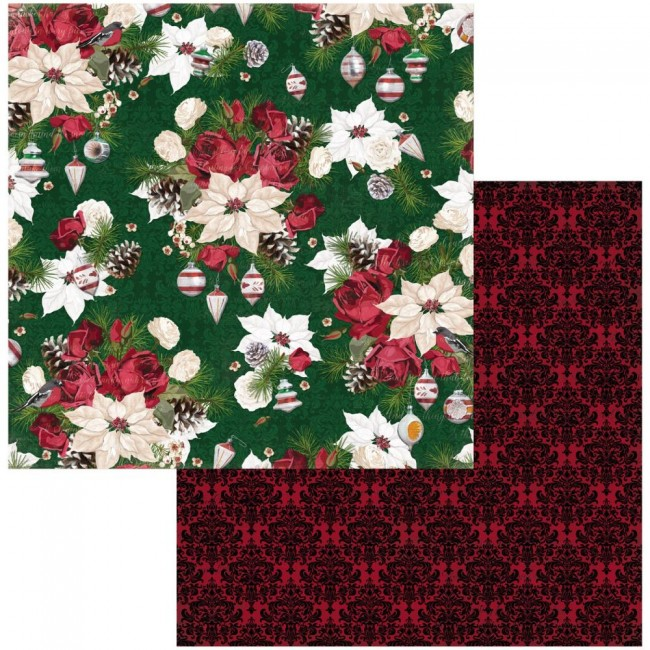 Papel Estampado Doble Cara 12x12 Joyful Christmas