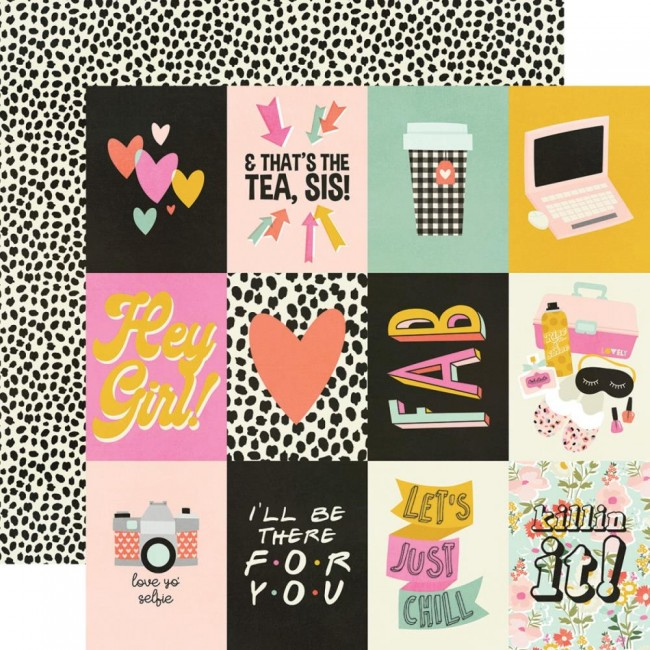 "Papel Estampado Doble Cara 12x12 Kate & Ash 3""X4"" Elements"