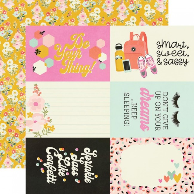 "Papel Estampado Doble Cara 12x12 Kate & Ash 4""X6"" Elements"