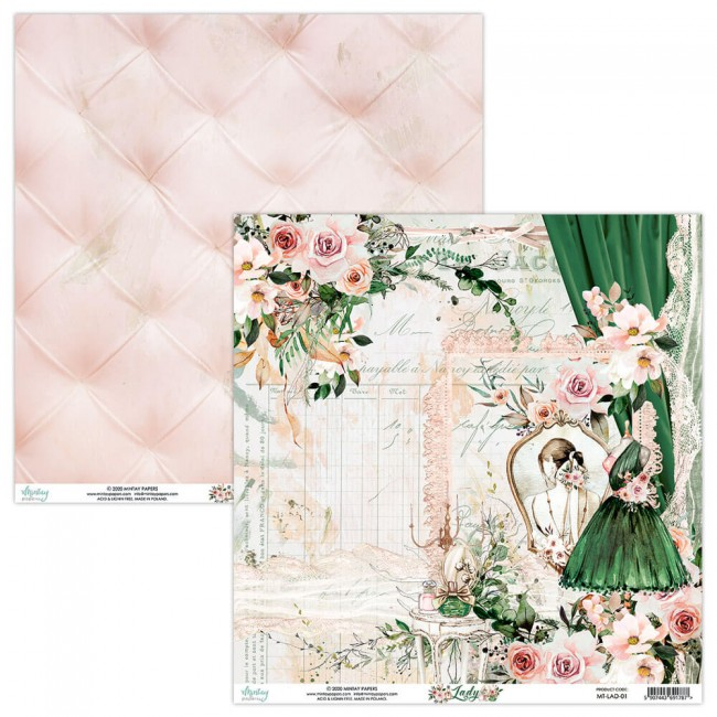 Papel Estampado Doble Cara 12x12 Lady 1