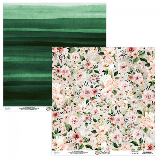 Papel Estampado Doble Cara 12x12 Lady 4