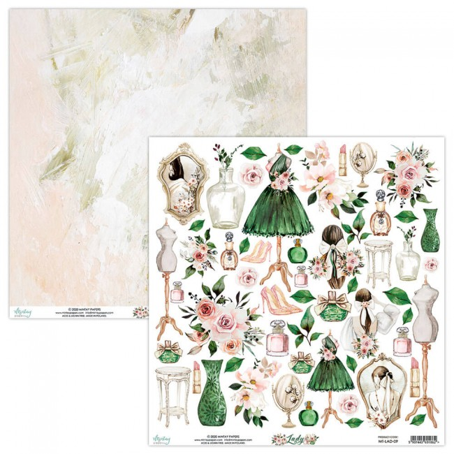 Papel Estampado Doble Cara 12x12 Lady 7