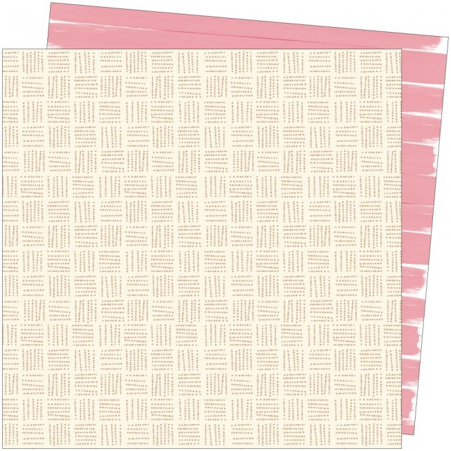 Papel Estampado Doble Cara 12x12 Late Afternoon Amy Tangerine Out Of Office