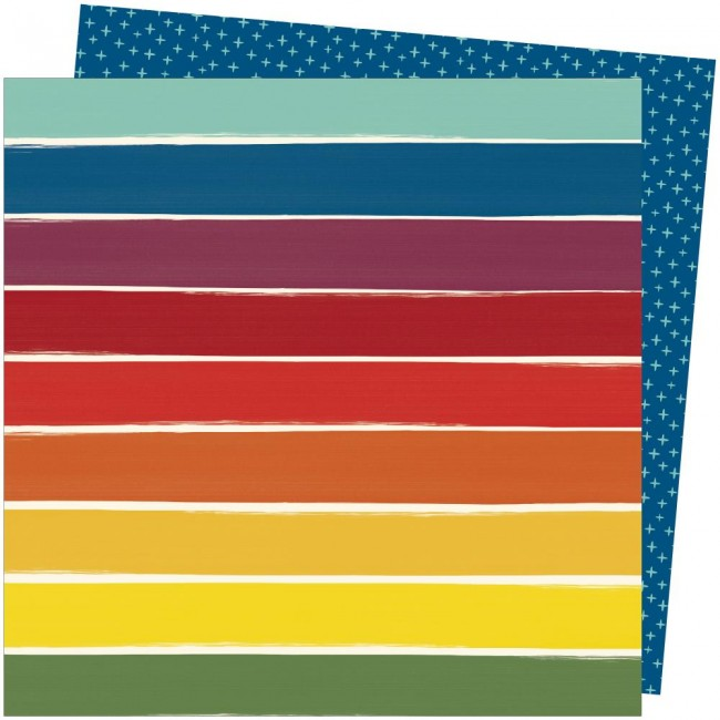 Papel Estampado Doble Cara 12x12 Late Afternoon Amy Tangerine Rainbow Lane