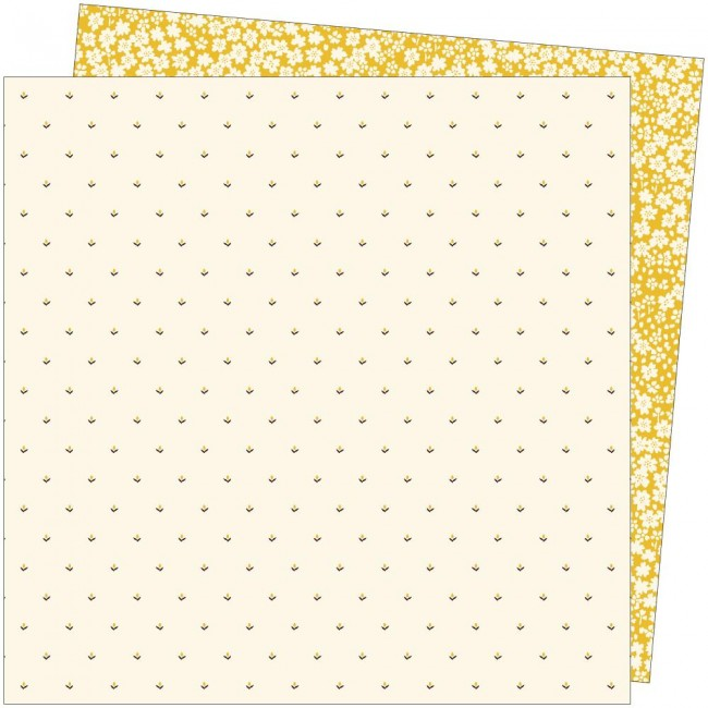 Papel Estampado Doble Cara 12x12 Late Afternoon Amy Tangerine Sweeter Than Honey