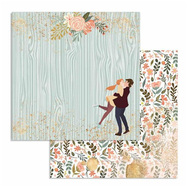 Papel Estampado Doble Cara 12x12 Love Story Johanna Rivero Lovers
