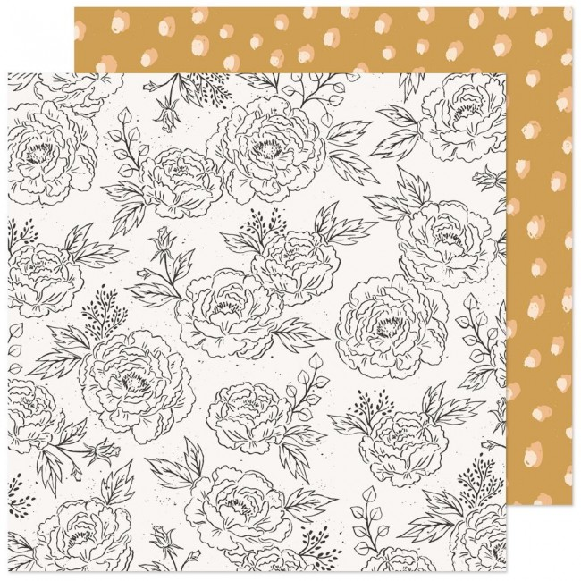Papel Estampado Doble Cara 12x12 Marigold Stay True