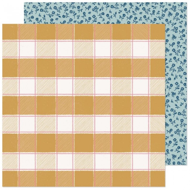 Papel Estampado Doble Cara 12x12 Marigold Sweet Sunshine
