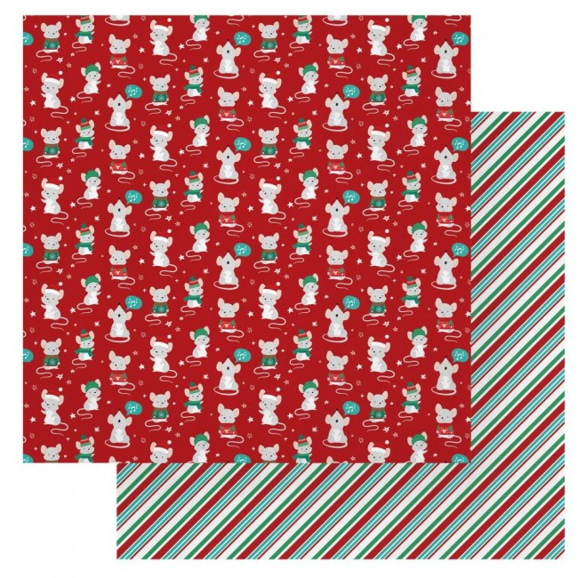 Papel Estampado Doble Cara 12x12 Not A Creature Was Stirring Not Even A Mouse