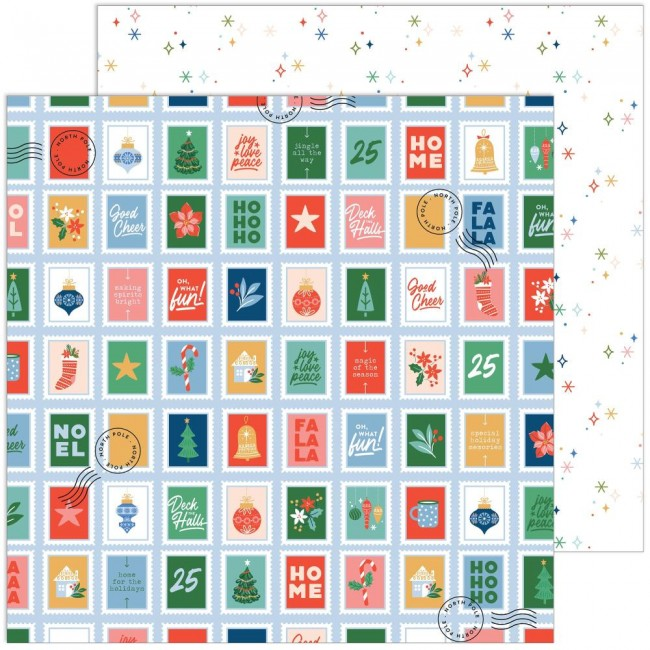 Papel Estampado Doble Cara 12x12 Oh What Fun Merriest Wishes
