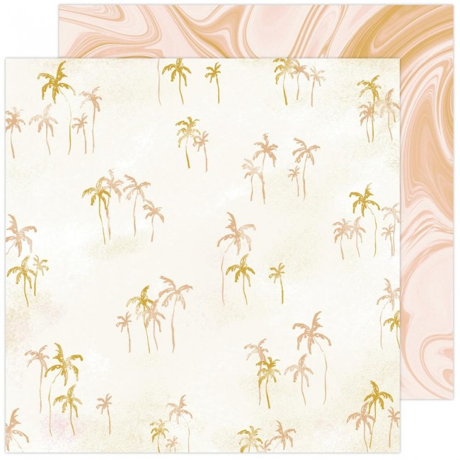 Papel Estampado Doble Cara 12x12 Old School Isla Vista