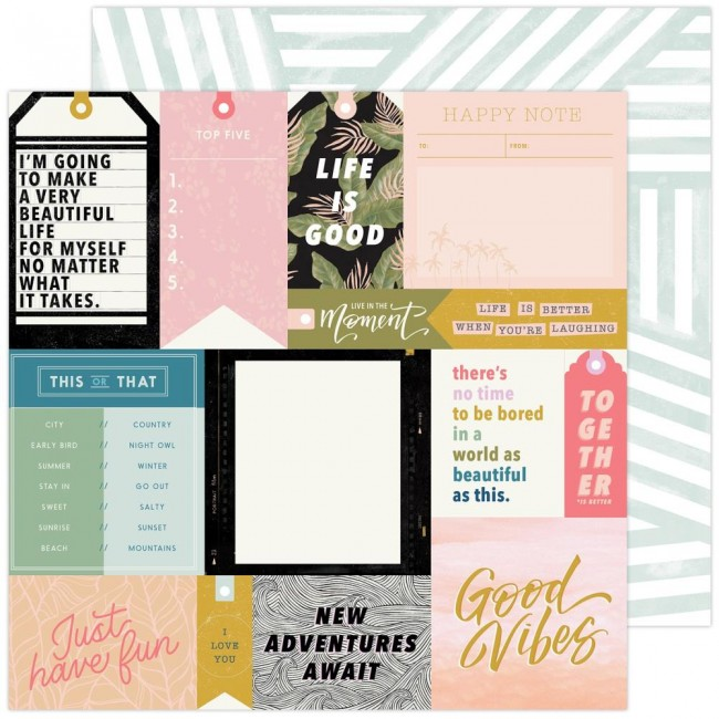 Papel Estampado Doble Cara 12x12 Old School Urban Stories