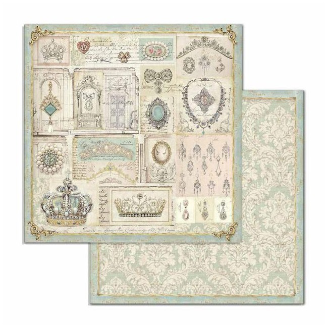 Papel Estampado Doble Cara 12x12 Princess ST Jewellery