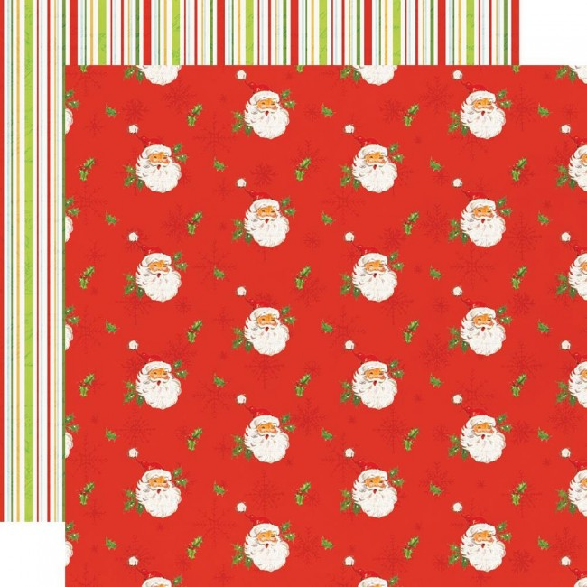 Papel Estampado Doble Cara 12x12 Simple Vintage North Pole I've Been Nice