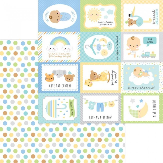 Papel Estampado Doble Cara 12x12 Special Delivery DO Play Time