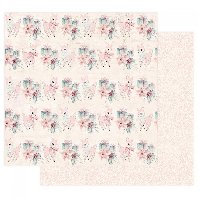 Papel Estampado Doble Cara 12x12 Sugar Cookie Beautiful Christmas