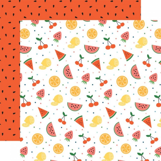 Papel Estampado Doble Cara 12x12 Summertime Fruit
