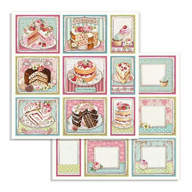 Papel Estampado Doble Cara 12x12 Sweety Cakes
