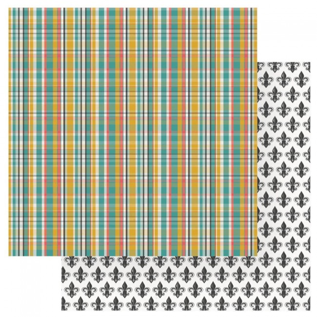 Papel Estampado Doble Cara 12x12 Wild Honey Bee Happy
