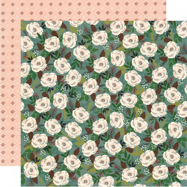 Papel Estampado Doble Cara 12x12 Winter Cottage All Is Calm