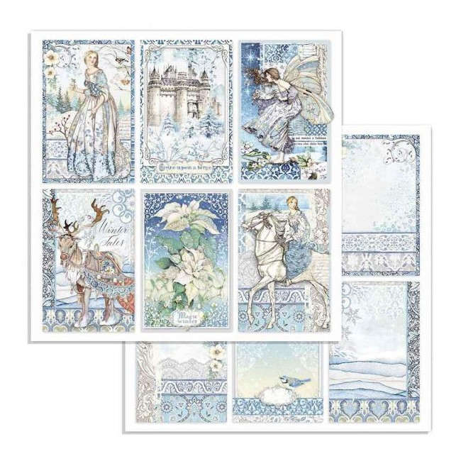 Papel Estampado Doble Cara 12x12 Winter Tales Cards
