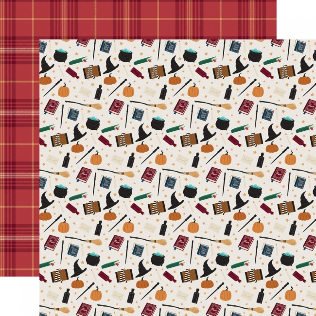 Papel Estampado Doble Cara 12x12 Witches & Wizards Something Magical