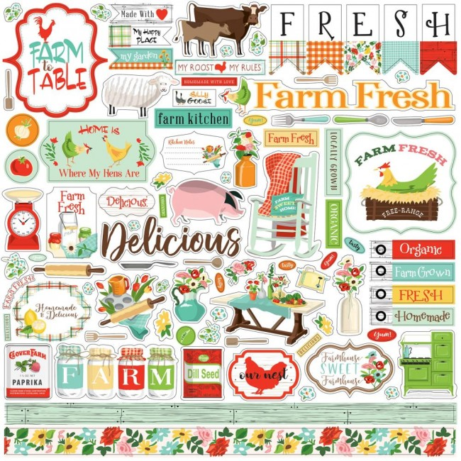 Pegatinas 12x12 Farm to Table Elements