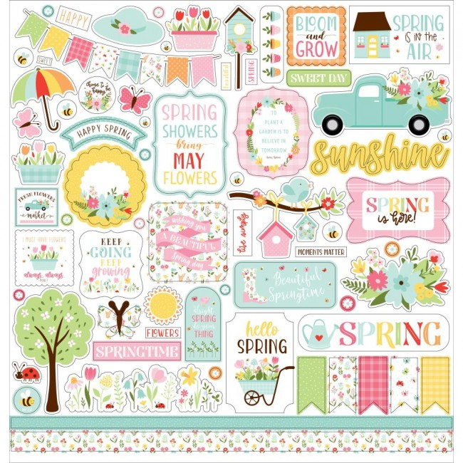 Pegatinas 12x12 Welcome Spring Elements