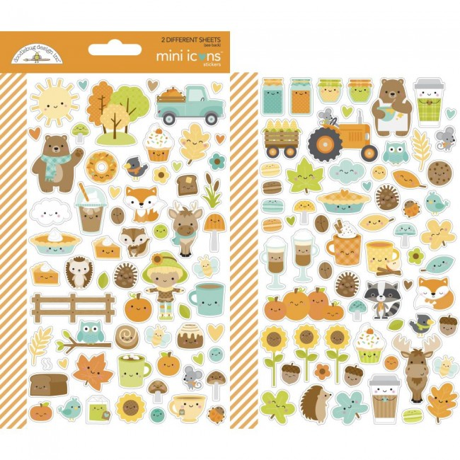 Pegatinas Pumpkin Spice Mini icons