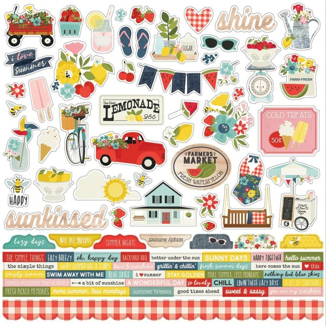 Pegatinas 12x12 Summer Farmhouse Combo
