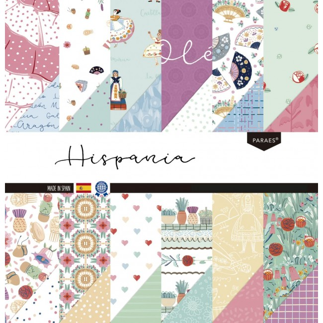 Kit Papeles Estampados 12x12 Hispania