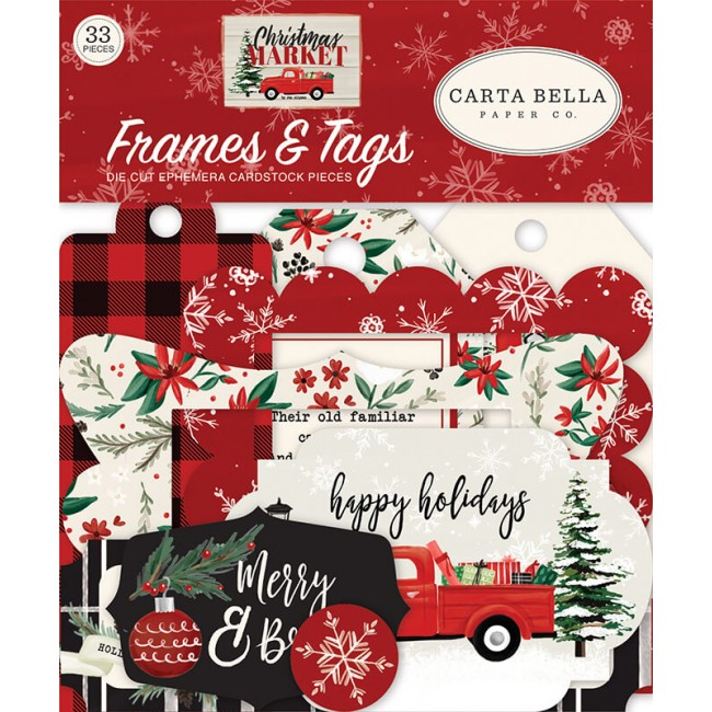 Die Cuts Christmas Market Frames & Tags