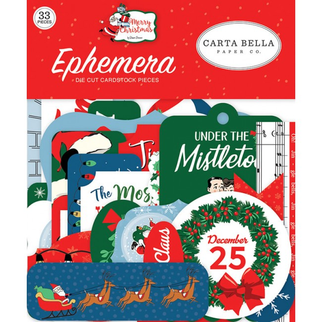 Die Cuts Merry Christmas Icons