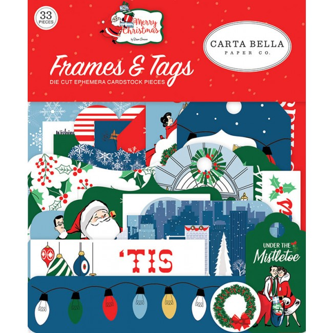 Die Cuts Merry Christmas Frames & Tags
