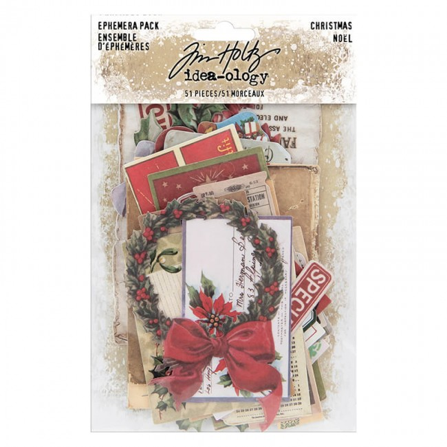 Die Cuts Idea-ology Christmas Ephemera Tim Holtz