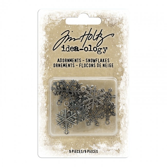 Metálicos Idea-ology Antique Nickel Snowflakes Tim Holtz