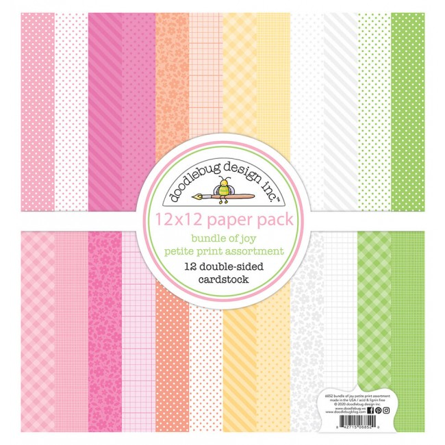 Kit Papeles Estampados 12x12 Bundle Of Joy DO Petite Prints