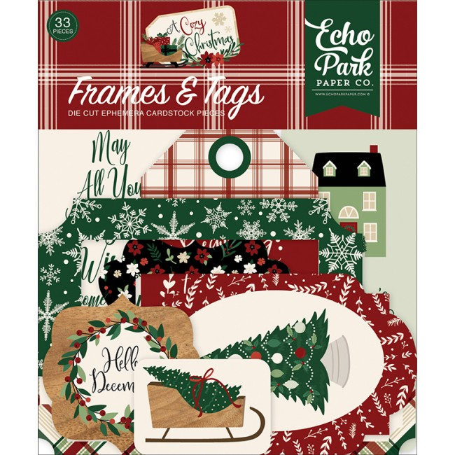 Die Cuts A Cozy Christmas Frames & Tags