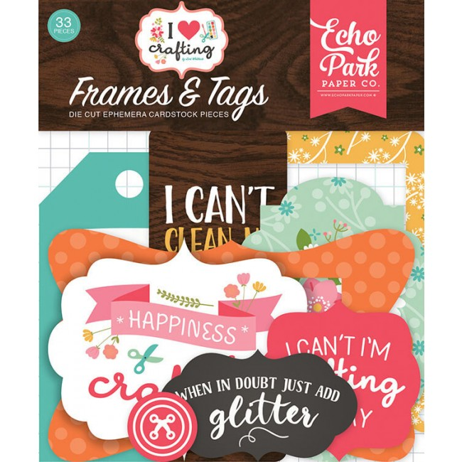 Die Cuts I Heart Crafting Frames & Tags