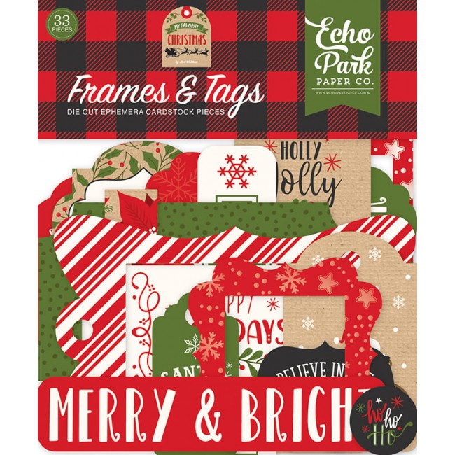 Die Cuts My Favorite Christmas Frames & Tags